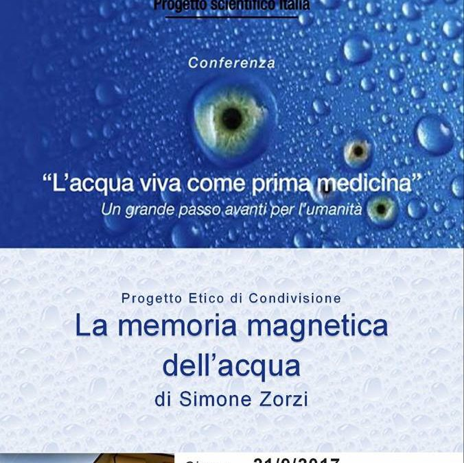 Evento: L'acqua viva come prima medicina